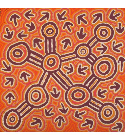 Lynette Nangala Singleton art peinture aborigene australie