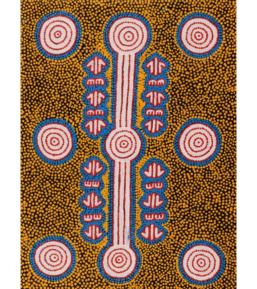 peinture-aborigene-australie-Amelia-Napaljarri-Brown