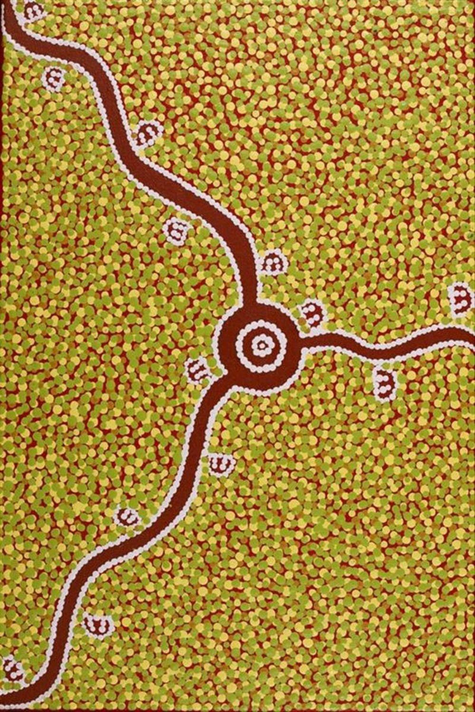 peinture sur toile art aborigene australie