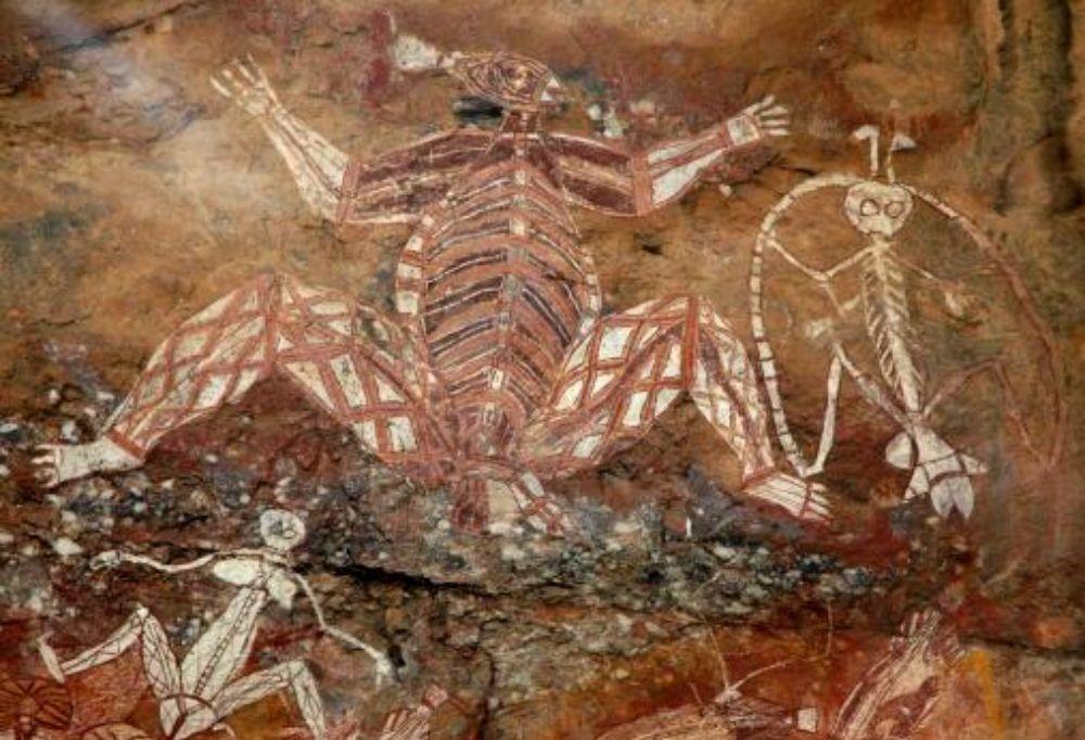 peinture rupestre aborigène Australie, peinture grotte rupestre, art tribal peuples premiers
