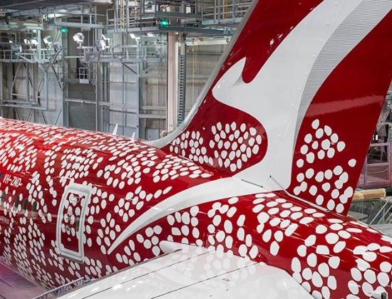 art aborigène australien sur carlingue avions quantas airline