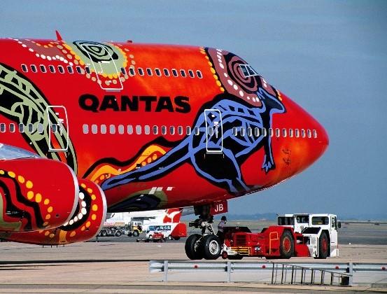 peinture aborigene australien quantas airline