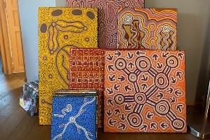 retrait toile aborigene australie galerie gondwana